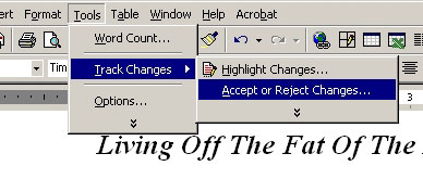 Accepting All Changes in Word