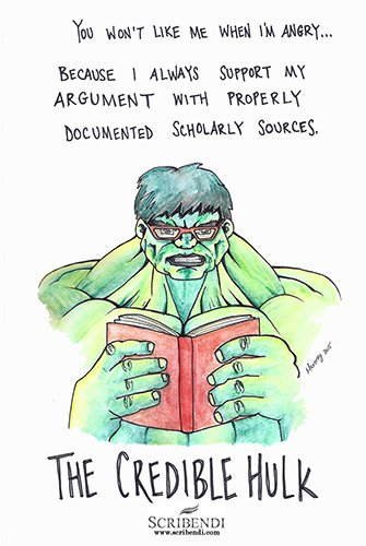 when it comes to plagiarism be like the credible hulk