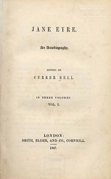 "The title page of ""Jane Eyre."""