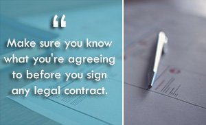 Publishing contracts.