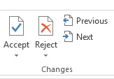 Accept or Reject Changes in Word 2016