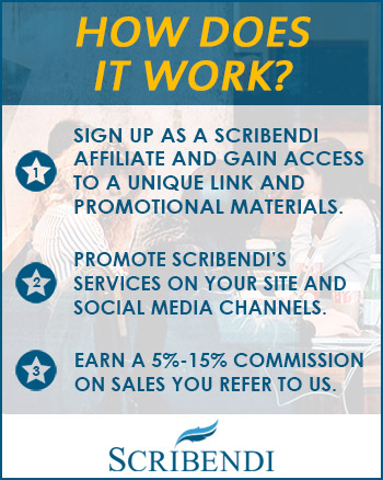 How the Scribendi Affiliate Program works.