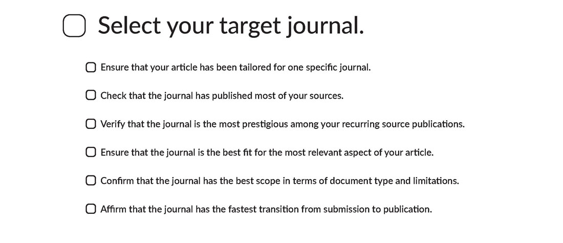 Select a Target Journal