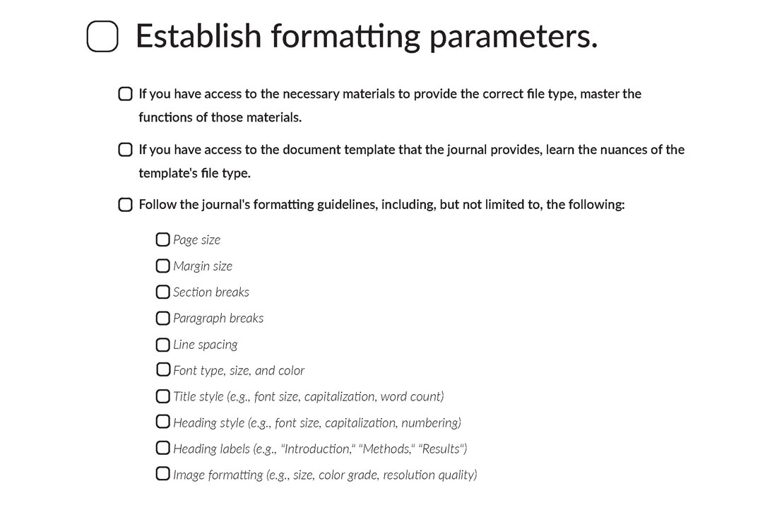 Establish Formatting Parameters