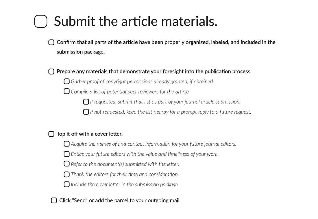 The Ultimate Journal Article Submission Checklist | Scribendi