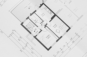 A floor plan represents the blueprint.
