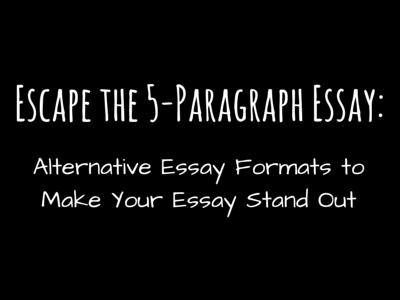 escape the fiveparagraph essay  scribendi escape the paragraph essay
