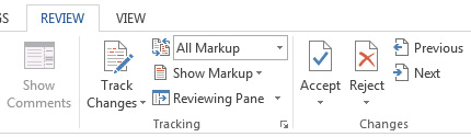 How to Access Track Changes and Comments in MS Word