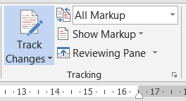 How to Show Markup in MS Word