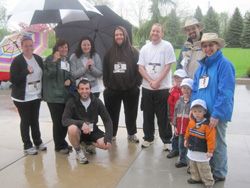 Scribendi.com staff stand together at the Muddy River Run in Chatham-Kent.