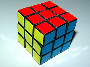 A Rubik's cube represents the problem solver.