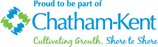 "Image that says, ""Proud to be a part of Chatham-Kent. Cultivating Growth, Shore to Shore."