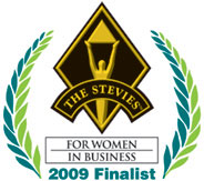 The Stevies for Women in Business logo.