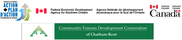 The logo for the Community Futures Development Corporation of Chatham-Kent.