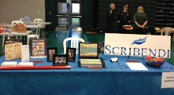 Scribendi.com's table at the CK Career Fair.