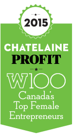 The PROFIT/Chatelaine W100 Ranking 2015 logo.