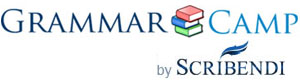 Learn English Grammar with GrammarCamp logo.