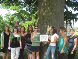 Photo of the Scribendi.com staff at the Heritage Tree project launch in Chatham-Kent.