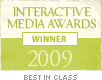 The logo of the Interactive Media Awards Winner 2009.