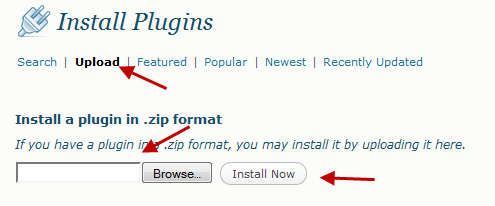 Installing a plugin via upload