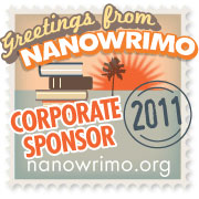 The 2011 NaNoWriMo Sponsorship Badge.
