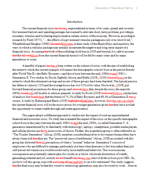 Essay proofread