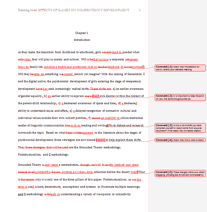 Dissertation copy editing