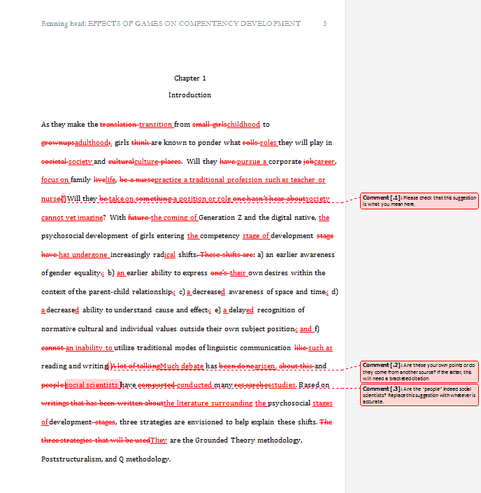 Editing dissertation example