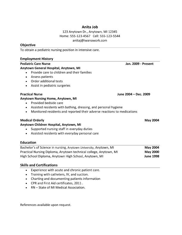 Type resume online