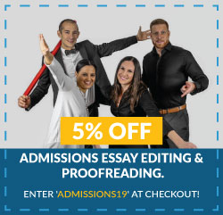 Admissions Essay Editing and Proofreading Coupon